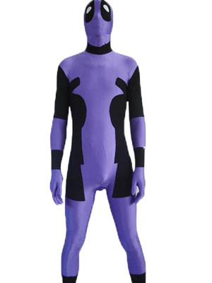 Purple Lycra Full Body Deadpool Zentai Costume