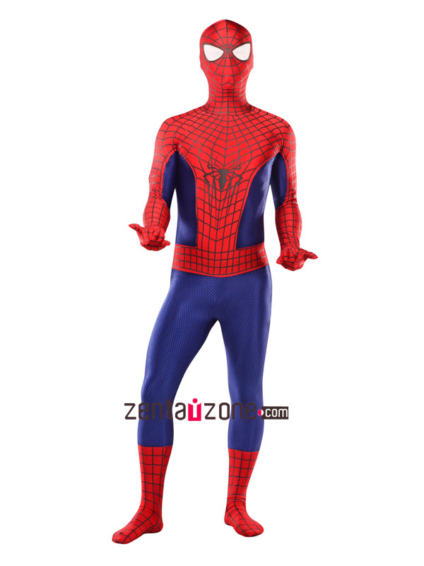 New 3-D Spandex Lycra Amazing Spiderman 2 Zentai Costume - Click Image to Close