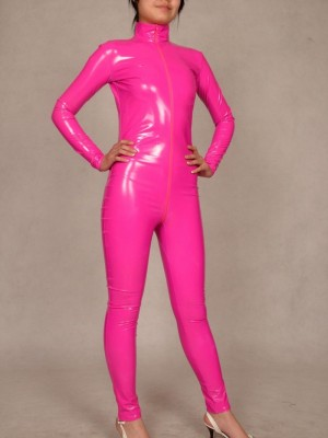 Pink PVC Catsuit