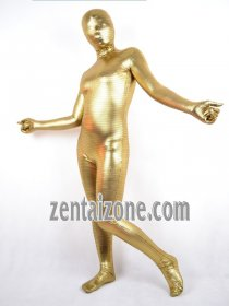 Golden Shiny Stripe Zentai Full Bodysuit