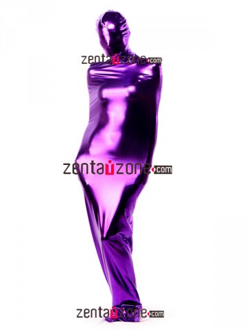 Purple Shiny Metallic Zentai Sleeping Bag