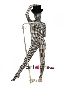 2014 New Checker Pattern Spandex Zentai Suit