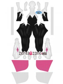 Custom Printed Gwenverse Spider Girl Zentai Costume