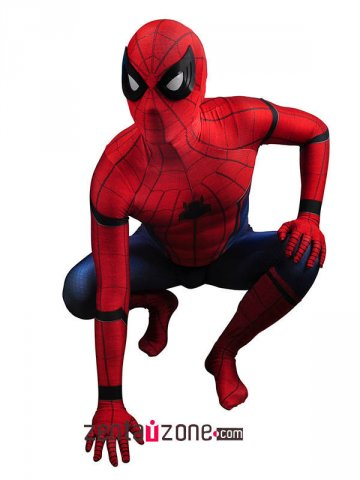 New Civil War Spiderman Spandex Zentai Costume [30430]