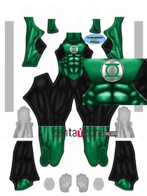 Custom Printed Green Lantern Zentai Costume