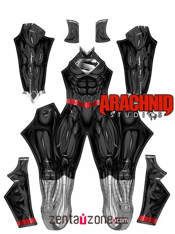 Custom Printed Black New 52 Superman Zentai Costume