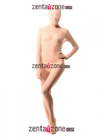 Skin Color Silk Lace Transparent Leotard Zentai