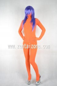 Orange Velvet Unisex Full Body Zentai Suit