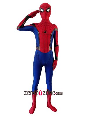 Color Fabric Homecoming Lycra Spiderman Zentai costume