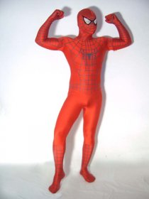 Red Spandex Lycra Spiderman Costume