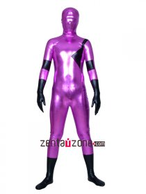 Red And Black Shiny Metallic Hero Zentai Suit