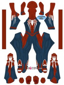 Custom Printed PS4 FINAL Spideman Zentai Costume