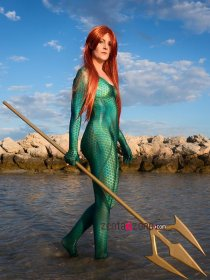 Custom Printed Queen Mera - Aquaman Zentai Costume