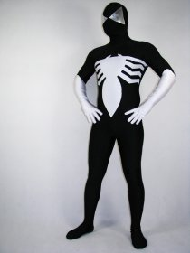 Black Spandex Lycra Spiderman Costume