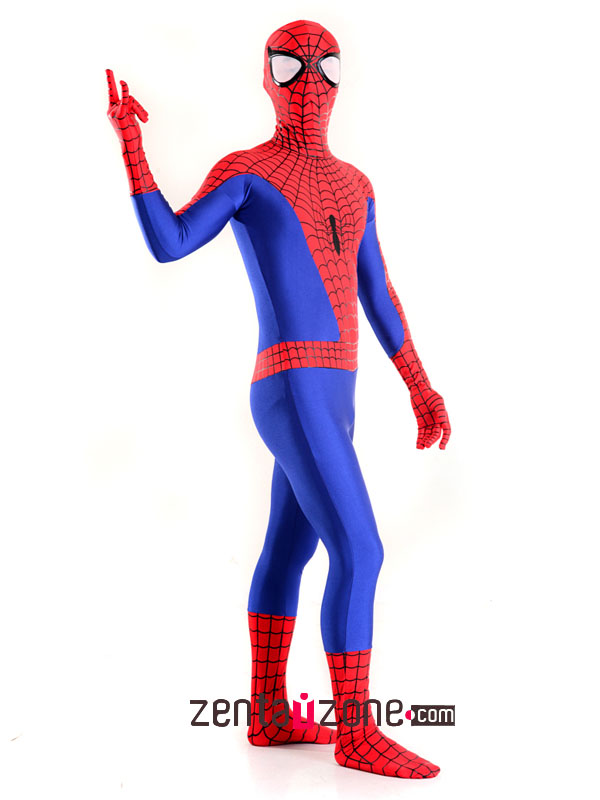 Spandex Lycra Ultimate Spiderman Zentai Costume - Click Image to Close
