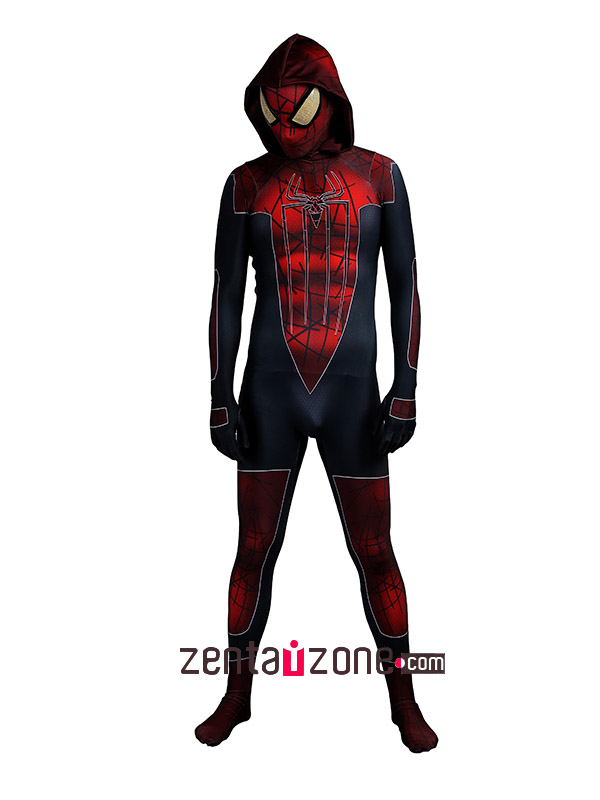 Spandex Lycra City Amazing Spiderman Hoodie Costume 3D Muscle - Click Image to Close