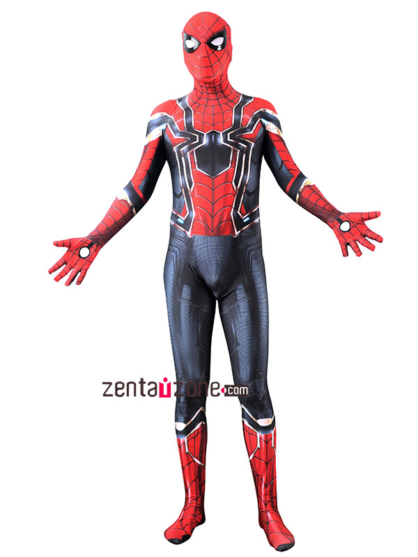 Custom Printed Iron Spider-MCU Final Zentai Costume