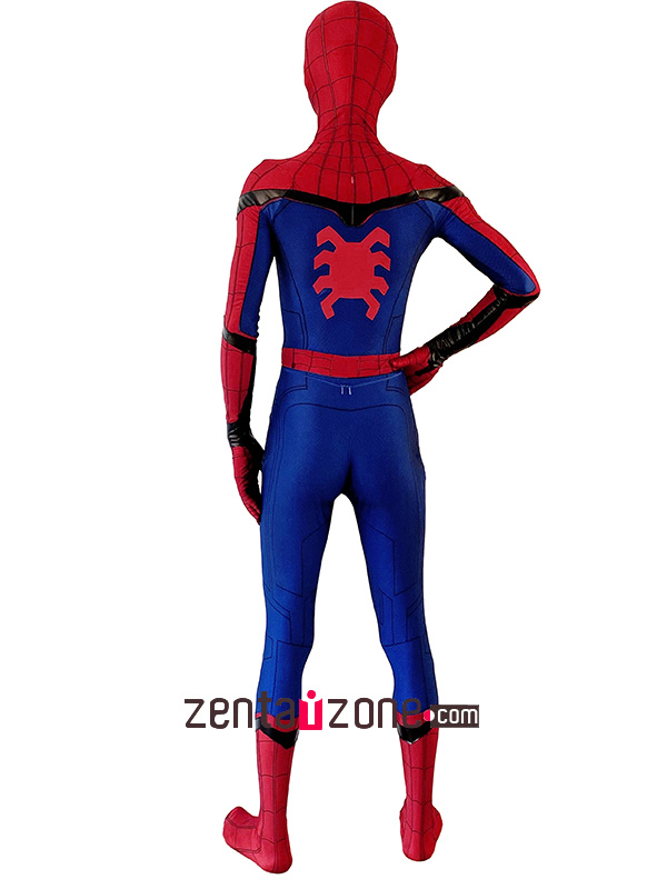 Color Fabric Homecoming Lycra Spiderman Zentai costume - Click Image to Close